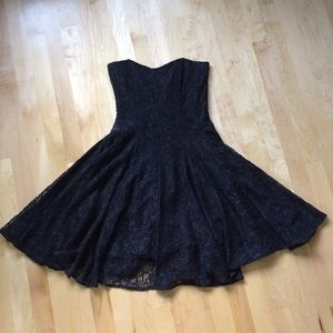 FCUK Very Dark Blue Lace Mini Size 4